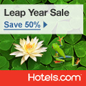Hotels.com Canada: Leap Year Sale - Save 50% today only! Book by 11:59PM CST 2/29/12