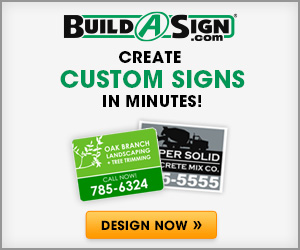 Build A Sign Custom Signs Promo