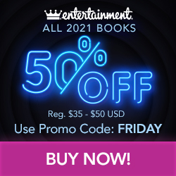 Black Friday Sale! All 2021 Books are 50% OFF + free shipping with code: FRIDAY at Shop.Entertainmen