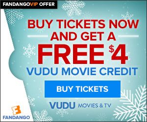 $4 VUDU Credit with Tickets