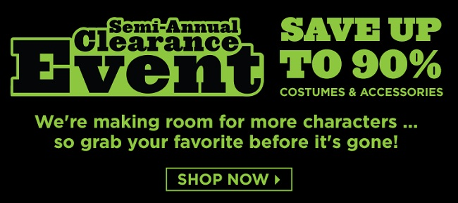 save 90% on costumes