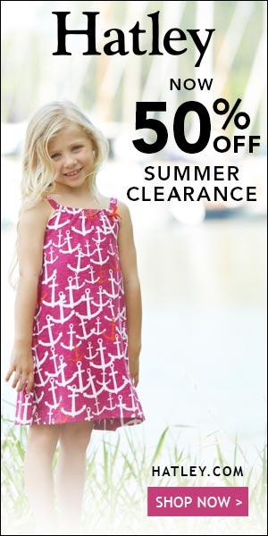 50% off Summer Sale on Hatley.com