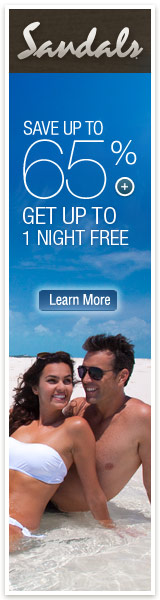 Save up to 65% At Sandals Resorts