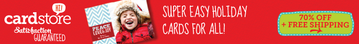 70% off Holiday Cards & Invites at Cardstore