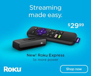 Roku Express for the on the go traveler. Roku!