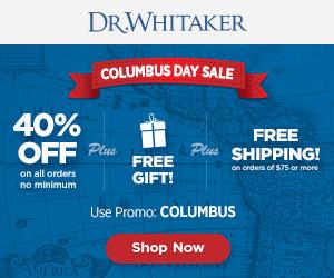 Dr. Whitaker Columbus Day Sale