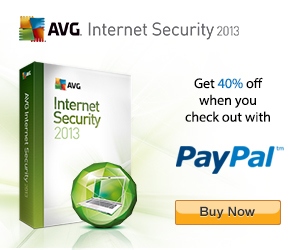 Safe internet browsing with AVG and safer payments with PayPal!