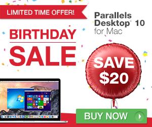 Parallels Birthday Sale