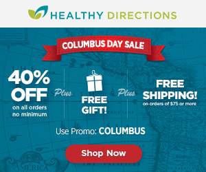 Healthy Directions Columbus Day Sale