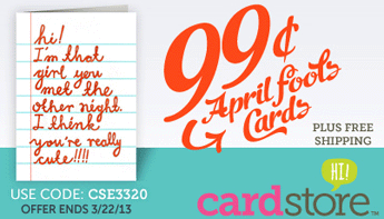 99¢ April Fool`s Day Cards +.