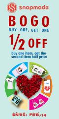 Snapmade 2015 - Valentine's Day Buy 1 Get 1 Deals - 120*240