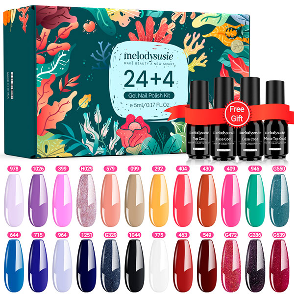 Melodysusie's popular and fashionable Gel Polish Sets, inculde all the colors you need.