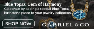 December Birthstone Blue Topaz Fine Jewelry Banner