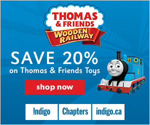 20% Off Thomas & Friends Wooden Railway at Indigo.ca! February 21-27.
