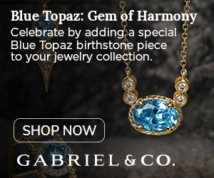 December Birthstone Blue Topaz Fine Jewelry Banner