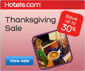 Thanksgiving Sale: Save up to 30% with Hotels.com!
