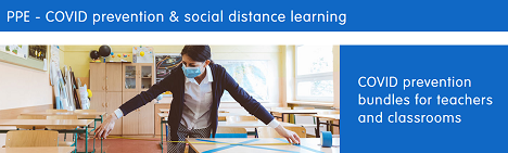 FREE SHIPPING On PPE-COVID Prevention & Social Distance Learning At Discount School Supply! Use Code