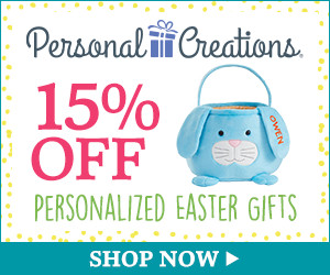 Personal Creations Promo Code - 15% off Personalized Easter Gifts