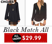 All Black Styles $29.99 and under at CHOiES! Offer ends 12/31/15. Shop now!