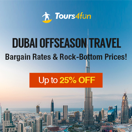 Dubai Offseason Travel Sale: Up to 25% Off Tours and Excursions!