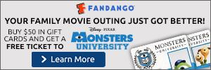 Monsters University Free Ticket