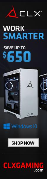 CLX Gaming Desktops Starting @ $598