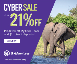G Adventures Cyber Sale 2020