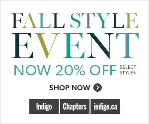 Fall Style Event - 20% Off Select Accessories & Style at Indigo.ca! August 6 - 9 only.