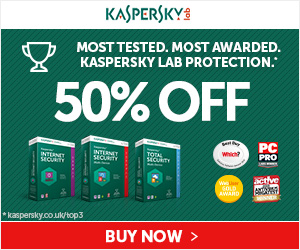 Kaspersky 50% off Cyber Week Savings!