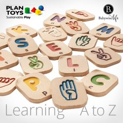 Open their minds and get a head start learning hand signs & letters from A to Z with PlanToys - now