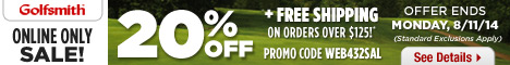 Golfsmith Online Only Sale