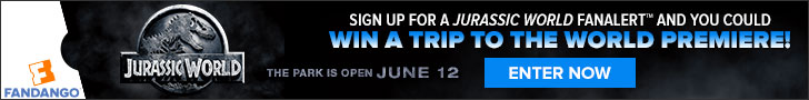 Sign up for a Jurassic World FanAlert™ and you could win a trip to the WORLD PREMIERE! Offer ends 3/31 10A PST. GRAND PRIZE DETAILS: •Two tickets to the world premiere of Jurassic World in 2015 (location TBD) •Jurassic World after party access •Hotel and travel accommodations