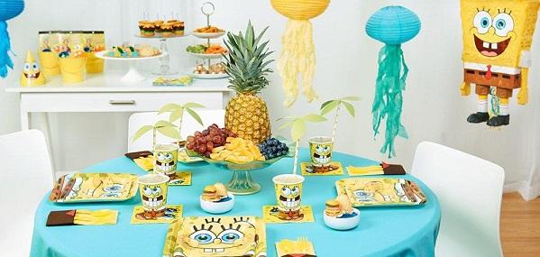 SpongeBob birthday party supplies