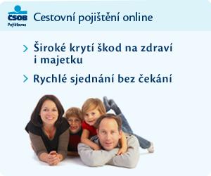 Cestovní pojištění od ČSOB Pojišťovny