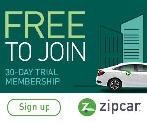 Zipcar car rentals