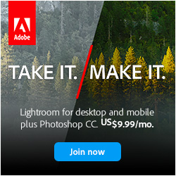 Creative Cloud Photography Plan. All-New Photoshop CC Plus Lightroom desktop and mobile. Just $9.99/