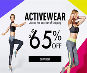 Get Up to 65% OFF Activewear.