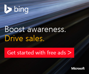 Search Advertising sign up page Bing Ads Promo Code