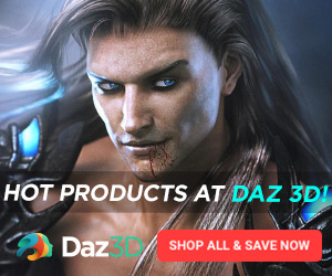 Hot New Products at Daz 3D 300 x 250