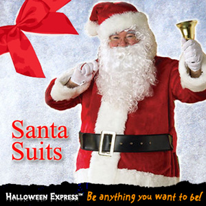 Santa Suits at Halloween Express for all your Costume Needs!