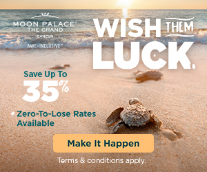 2 for 1 in Paradise at The Grand at Moon Palace.