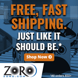 Just like it should be on orders $50+ at Zoro.com