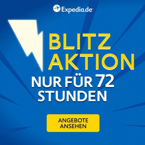 Expedia Blitz Aktion - Flash Sale