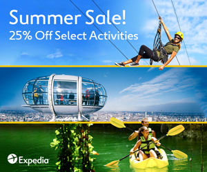 Expedia Promo Code - 25% Off select activities - Summer Sale 2018