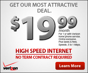 Verizon High Speed Internet - ONLY $14.99/mo + Free Wireless Router