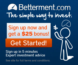 $25 Bonus from Betterment
