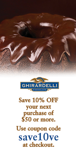Save 10% off your purchase of $50 or more on ghirardelli.com. Use coupon code save10ve at checkout.