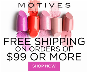 Image for (MC) Free Shipping on any $99 purchase of Beauty, Cosmetics, Makeup and Skincare at MotivesCosmetics.com! SHOP NOW!  300x250