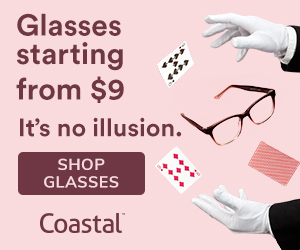 Glasses from $9 at Costal! Shop now, no code necessary.