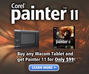 Save on Painter 11 + Wacom Pen Tablet Bundle!